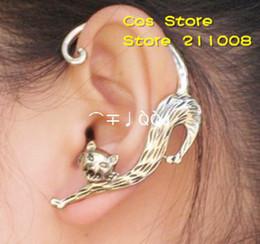 PUNK Gothic Sexy Cat Shape Stud Earring  Ear Cuff , 12 pcs  lot, 2 colors