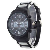 Cheap WoMaGe 679 Black Round Dial Rubber Strap Quartz Watch