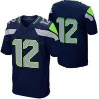 Wholesale Cheapest Fan Mens Elite Jerseys Navy Blue Football Jerseys Brand Sports Jerseys High Quality Player Shirts Hot Sale Mens Shirts Hawks