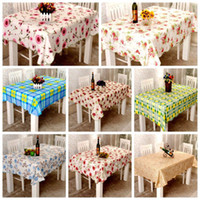 Wholesale 2014 New Arrival Floral Table Runners Wipe Clean Tablecloth Oilcloth Vinyl PVC All Designs Colours Kitchen Table Skirts DH04