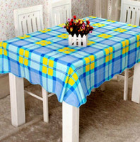 Wholesale Home Texitiles Wipe Clean Square Table Cloth Oil cloth Vinyl PVC All Designs Colours Kitchen Table Skirts DH04