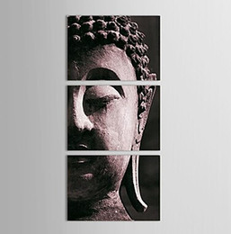 Wholesale Pictures Decor Hand painted Wall Art Home Decor Religious Sakyamuni Buddha Stat Oil Painting On Canvas With Framed Ready To Hung BU027