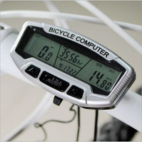 Wholesale Digital LCD Backlight Bicycle Computer Odometer Bike Meter Speedometer SD558A Clock Stopwatch