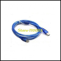 Cheap 2pcs lot 3M 10FT USB 2.0 A Male to B Male for 3D Printer Cable Blue