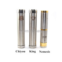 Electronic Cigarette mechanical mod  Hottest !!! Ecig Mech Mod Locking Bottom Button Adjustable King Nemesis Chiyou Electronic Cigarette Mod fit 18350 18500 18650 battery mod