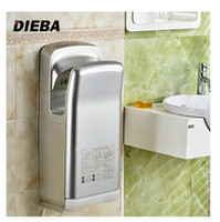 Wholesale DIEBA hand dryer high speed automatic induction phone double jet blow hand dryer cold and hot dry cell phone