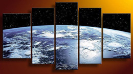 Wholesale Hot Sell Pictures Decor Hand painted High Q Modern Home Decoration Wall Art Abstract earth Oil Painting On Canvas set framed