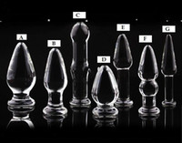 Wholesale 7 designs Glass Glasses Butt Plug Anal Jewelry plug glass dildo penis sex toy products