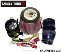 Air Filter auto supercharger - Tansky Electric Auto Turbo Supercharger Universal Air Intake Filter Fit Ride on Mower w Iron Fan TK AW5000 LH