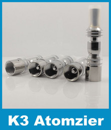 K3 Atomizer Vaporizer Tank Burn Dry Herb Wax fit EGO-T EGO-VV EGO C Twist Battery E Cigarette Atomzier Replaceable Core Clearomizers ATB007