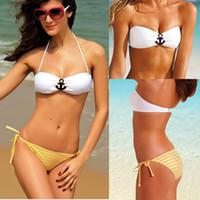 Hot New Sexy Women' s Anchor Bikini Set Navy Padded Swim...