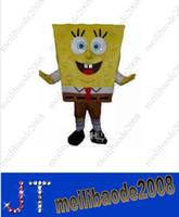 adultes Cartoon Sponge Bob costume de mascotte de Anime Character Antimated Doll Garment charme Marcher Robe HSA0406