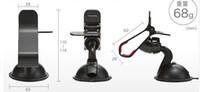 Wholesale 2014 new Universal Car Mount Holder Windshield Sucker Bracket Stand Degree Rotating for Iphone s s Samsung S4 S5 GPS Mobile Phone