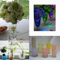 water beads - 120 pieces Funny Crystal Plant Soil Beads Absorbing Water Beads Crystal Magic Beads For Home Office Decoration Colors Choose ZVO