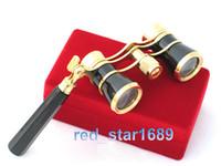 opera binoculars - NEW lady gift x25 Coated Lens telescope black Theater opera Glasses Binoculars w handle