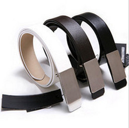 FREE SHIPPING! Retail and Wholesale! Classic fashion steel head leather Belt men belts