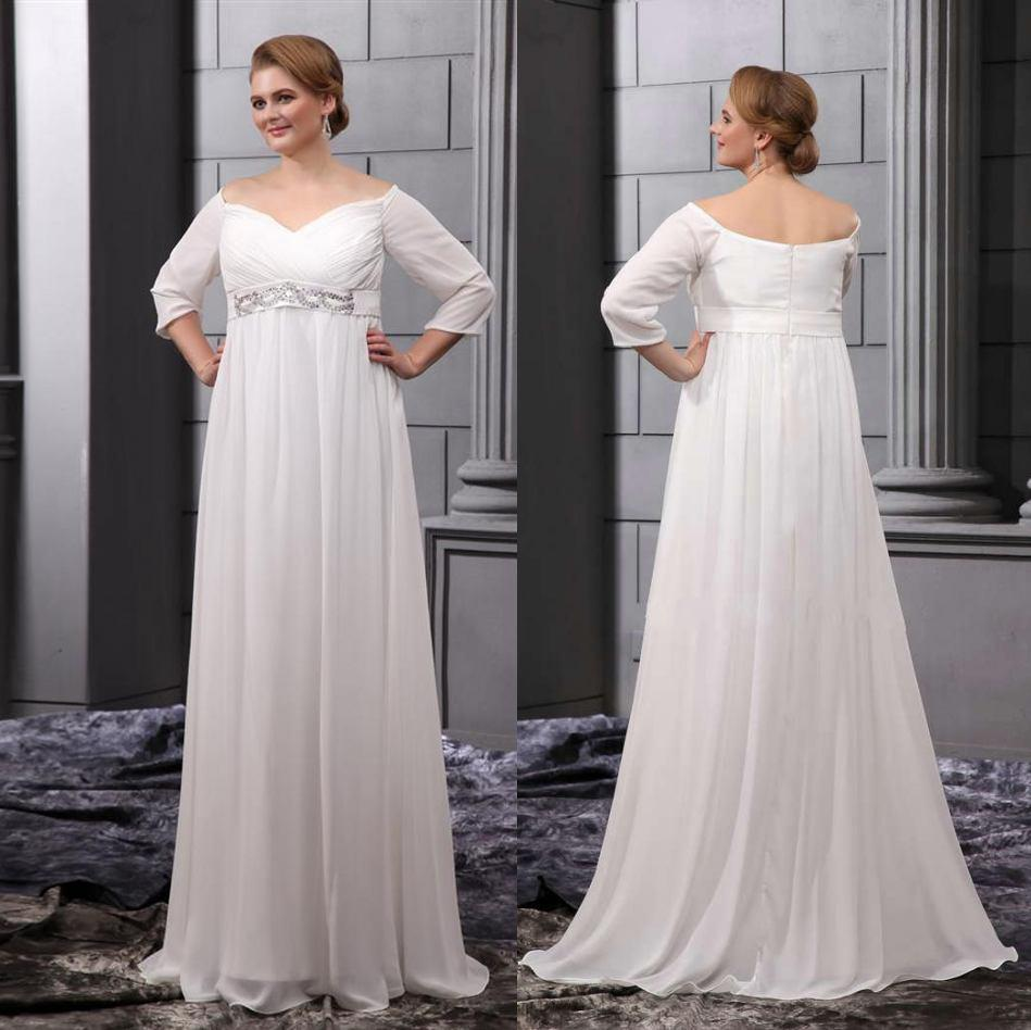 2015 2014 New Classic Plus Size Wedding Dresses Bridal Gowns With ...