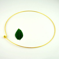 Wholesale Hot cm Gold Plated Copper Torques Screw Clasp Choker Necklaces Finding