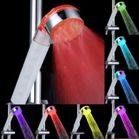 Wholesale 2014 New Bathroom Shower Head Multifunctional Adjustable White Shower Head Colors Gradual Handle Showerheads LED Light SDS A20