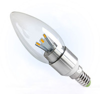 Wholesale 5W E12 E14 Led Bulbs Candle Light Angle Leds SMD High Bright Warm Cool White Led Lights Lamp AC V CE