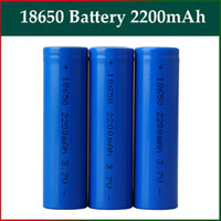 Cheap Rechargeable Battery 18650 Battery 2200mah Flat Head Li-on Battery 3.7V Fit Electronic Cigarette Mods Nemesis Panzer Stingray Mods