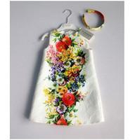 sundresses - 2014 Monsoon Girls New Style Sleeveless Dress Children s Autumn Classical Printed Sundress