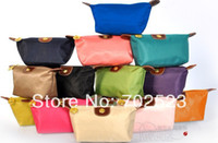 Wholesale 10 middle Size Hot New Women senior waterproof nylon candy Lady s cosmetic organizer bag Coin Purses