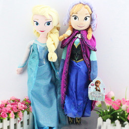 Wholesale 1PC Retail frozen dolls cm inch frozen elsa anna toy doll action figures plush toy frozen dolls Cheap Christmas Gift