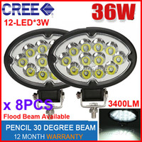 "Cheap 8PCS 6.5"" 36W CREE 12LED Driving Work Light Off-Road SUV ATV 4WD 4x4 Spot Flood Beam 9-32V 3400lm POWER JEEP Truck Wagon UTE Fog Headlamp"
