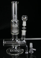 Wholesale 2014 new two function arm perk with inline perk quot inches glass water pipe glass bong with Titaniul nail mm glass bowl oil rig