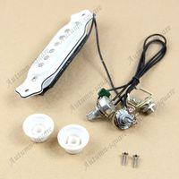 Wholesale 1 Set White Color Acoustic Guitar Single Coil Magnetic Pickup