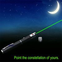 Wholesale Super Bright nm Green Laser Pointer Pen Visible Beam Guide Meeting w Star Pattern Converter f Business office teaching