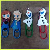 Wholesale Hot Sale Frozen Paper Clip Elsa Anna Olaf Paper Note Clips Bookmark Fashion Cartoon Paper Clip Kids Children Paper Clip Bookmark GZ GD29