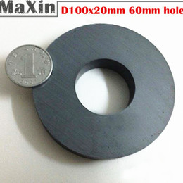 Wholesale 3pcs Big size Strong Dics Ferrite magnet Y30 Round stick Magnets D100 x mm hole mm