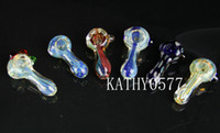 glass pipes - colorful glass pipe mini glass smoking pipe glass tobacco pipoe mix colors