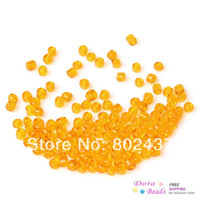 Cheap (8 0) Glass Seed Beads Jewelry Making Orange Yellow About 3x2mm,Hole:Approx 1mm,450 Grams(approx 18000PCs Bag) (B32969)