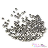 Cheap 8 0 Glass Seed Beads Jewelry Making Silver-grey About 3x2mm,450 grams(approx 15000PCs Bag) (B33146)