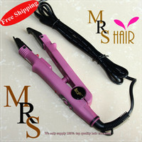 Wholesale Loof fusion hair extension iron adjustable temperature connector professional salon model for hair black pink pc