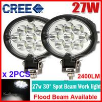 "Cheap 2PCS 5.5"" 27W CREE 9-LED Driving Work Light Off-Road SUV ATV 4WD 4x4 Spot Flood Beam 9-33V 2400lm POWER JEEP Truck Wagon UTE Fog Headlamp"