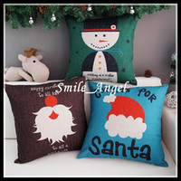 Wholesale 2014 Xmas Christmas Gift Santa Beard Snowman Pattern thick cotton pillow cover cushion office sofa cushion for hoem car Hot Sale Whoelsale