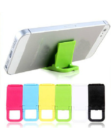 Wholesale Mini Portable Colorful Phone Stand Holder Universal Foldable Phone Holders Key Pendant for iphone s gs ipod itouch