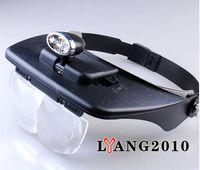 Wholesale Head Magnifying Glass LED Light Jeweler Magnifier Set Glass Lens Optivisor x x x x