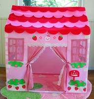 Cheap Free shiping!Hot sale Mother Garden Kids Play House Pricess House Game Play Tent Indoor Outdoor Pink Attached Bag Gift