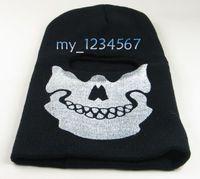 Cheap free shipping Full Face Mask Black Veil Ghost Skull Ski Hood Winter Cycling Skateboard Warmer
