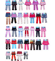 Cheap New Baby Girls Leggings Pants Child Girl's Pantskirt Lovely Cartoon Tights Skinny Trousers knit Cute Mouse Cat Fruit Stripe 28 Styles A318
