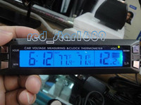 Wholesale Battery Monitor Car Alarm LCD Temperature Thermometer Digital Clock Voltage EC30
