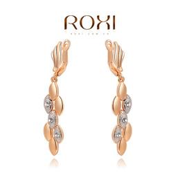 Wholesale ROXI Genuine Austrian Crystals Wheat Earrings Best Gift For Girlfriend Pure Handmade Fashion Jewelry