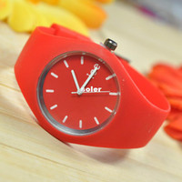 ice watches - Fashion silicone watch ultra thin new ice cream gift silicone watch couple quartz wrist watches