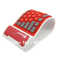 Bluetooth inalámbrica nueva lavable a prueba de agua flexible de silicona enrollable teclado plegable / abatible