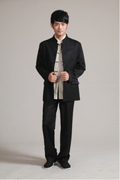 Wholesale Top Quality Spring Chinese Style Suits Men s Chinese tunic Suit Kung Fu Jacket Coat M L XL XXL XXXL Style
